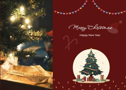 christmas card 27 tree plant
