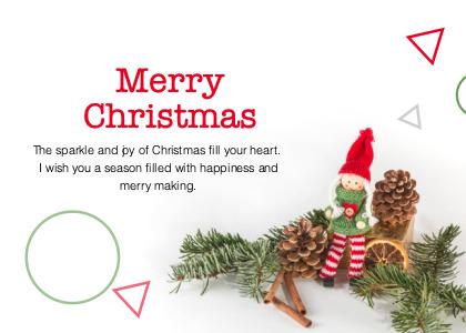 christmas card 3 tree plant