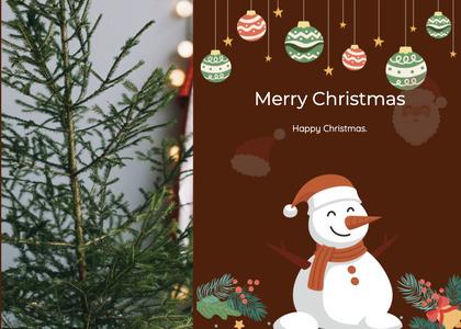 christmas card 31 envelope snowman
