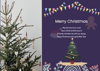christmas card 32 tree plant