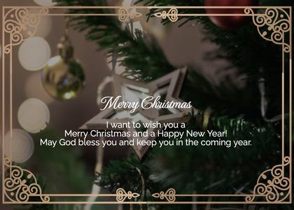christmas card 36 tree plant