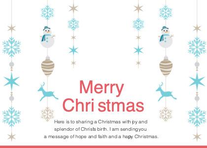 christmas card 4 advertisement poster