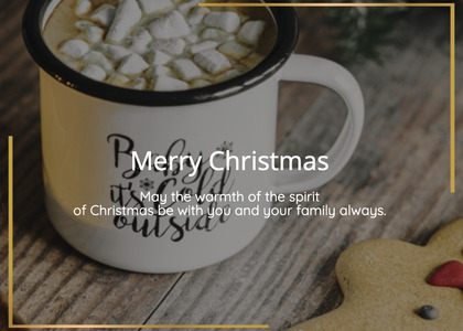 christmas card 42 hotchocolate food
