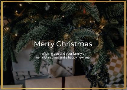 christmas card 45 tree plant