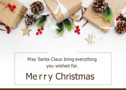 christmas card 6 tree plant