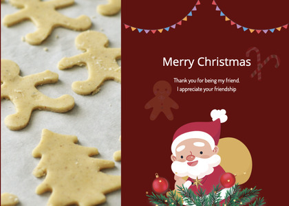 christmas card 66 cookie biscuit