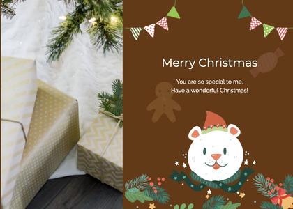 christmas card 67 tree plant