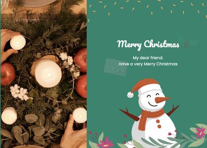 christmas card 69 tree plant