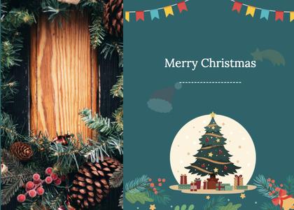 christmas card 71 tree plant