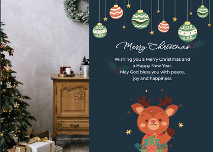 christmas card 73 poster advertisement