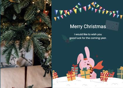 christmas card 74 tree plant