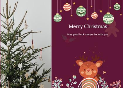 christmas card 75 tree plant
