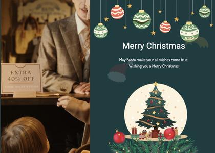 christmas card 76 person tree