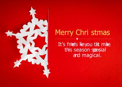 christmas card 8 symbol tree