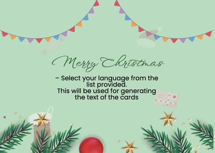 christmas card 90 text tree