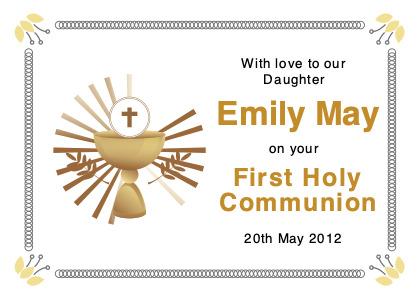 communion card 1 text paper