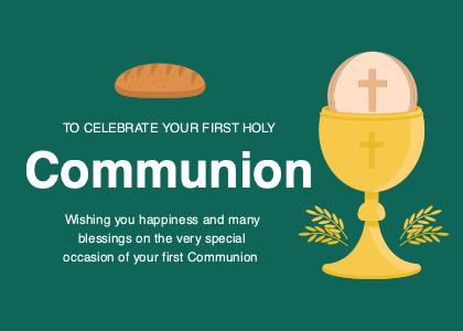 communion card 3 flyer advertisement