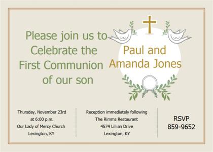 communion card 7 text flyer