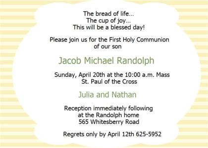 communion card 8 advertisement poster