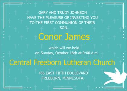 communion card 9 poster advertisement