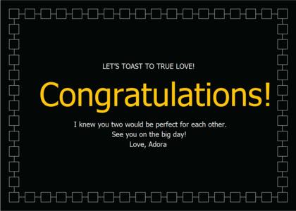 congratulations card 10 text flyer