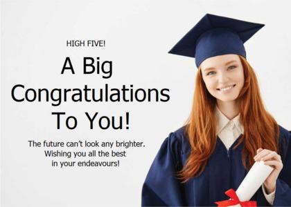 congratulations card 12 person graduation
