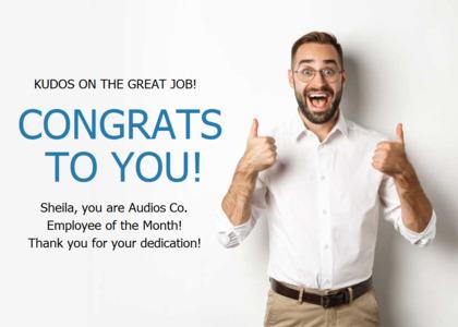 congratulations card 14 person clothing