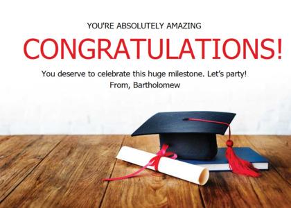 congratulations card 16 text graduation
