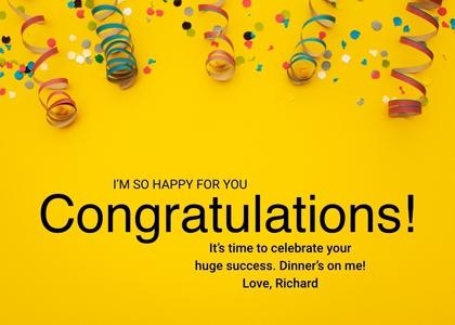 congratulations card 7 paper confetti