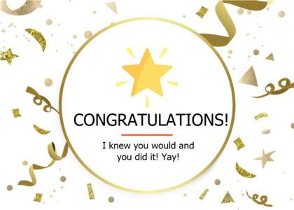 congratulations card 8 paper flyer