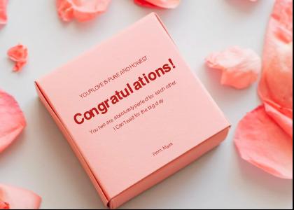 engagement card 2 petal flower