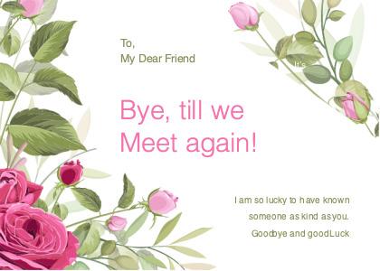 farewell card 3 plant rose
