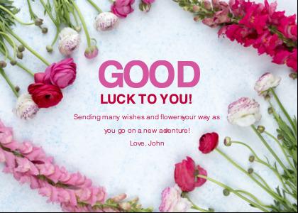 farewell card 4 petal plant