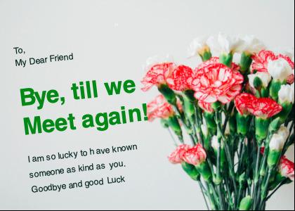 farewell card 5 plant flower