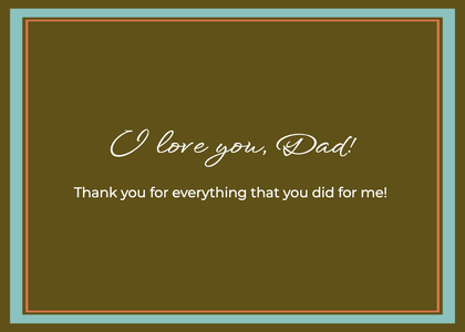 fathersday card 10 text business card