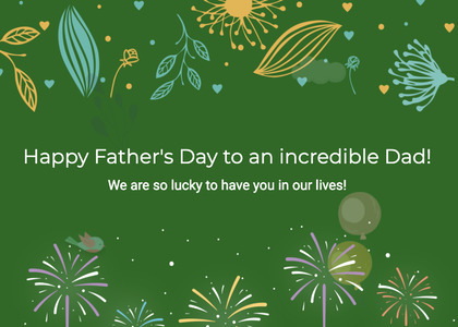 fathersday card 102 green graphics