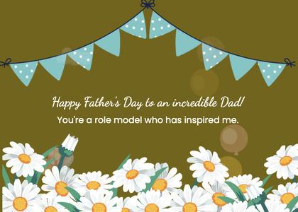 fathersday card 106 daisy plant