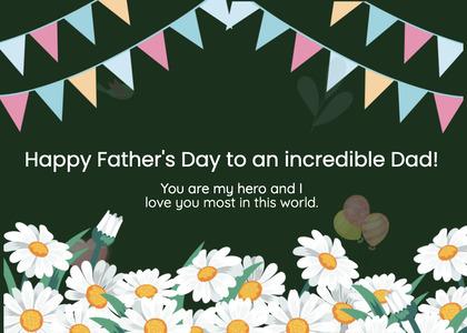 fathersday card 119 daisy daisies