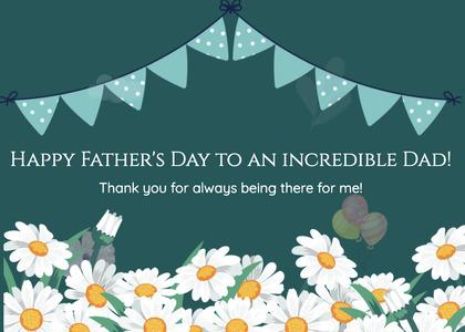 fathersday card 126 daisy daisies