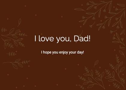 fathersday card 13 text menu