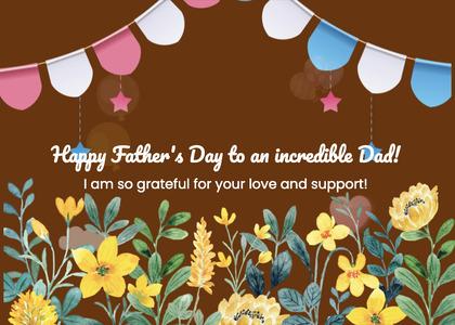 fathersday card 134 floraldesign art