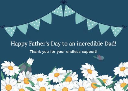 fathersday card 143 daisy plant