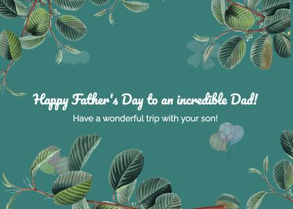 fathersday card 149 vegetation plant