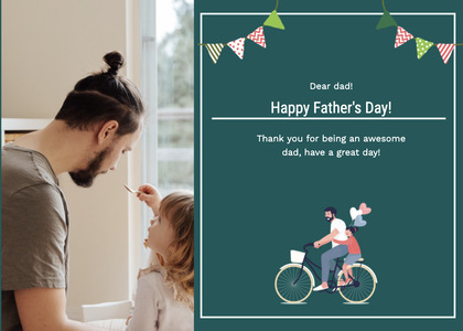 fathersday card 153 bicycle transportation