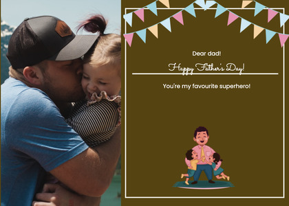 fathersday card 154 person poster