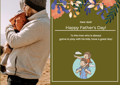 fathersday card 158 advertisement poster