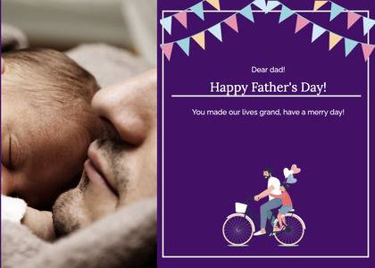 fathersday card 172 person bicycle
