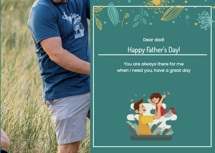 fathersday card 180 person human