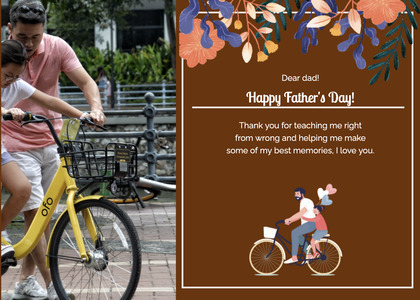 fathersday card 188 bicycle vehicle