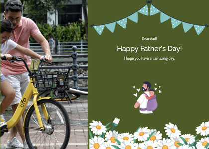 fathersday card 203 person wheel